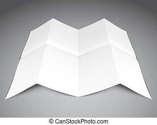 Folded Paper Sheet