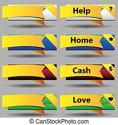 Folded Ribbon Button Set