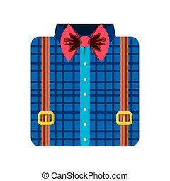 folded shirt bow