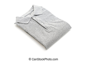 folded shirt on white background