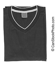 folded t-shirt on white background