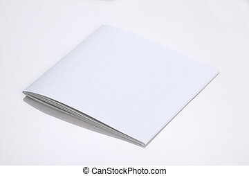 Folded White Blank Brochure Magazine Cover for Mockups