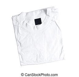 folded white t-shirt