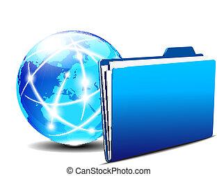 Folder and communication Internet