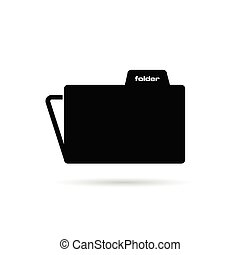 folder black vector silhouette