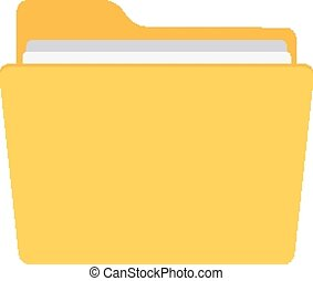 Folder. - Isolated icon pictogram. Eps 10 vector...