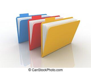 Folder concept  - Folder concept