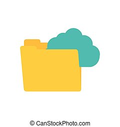 folder data clouds system technology connect