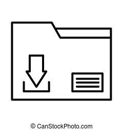 folder data file with arrow down line style icon