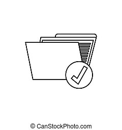Folder data storage icon vector illustration graphic design