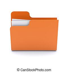 Folder on a white background. 3d image