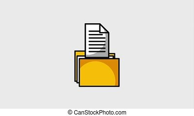 folder file document data information animation