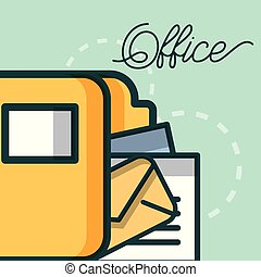 folder file document mail archive office