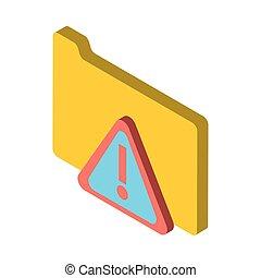 folder file document with alert symbol