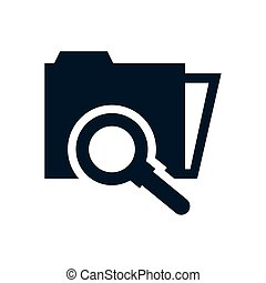 folder file document with magnifying glass