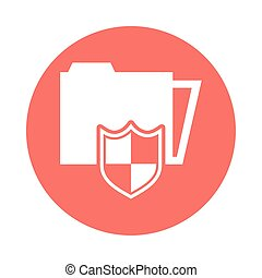 folder file document with security shield
