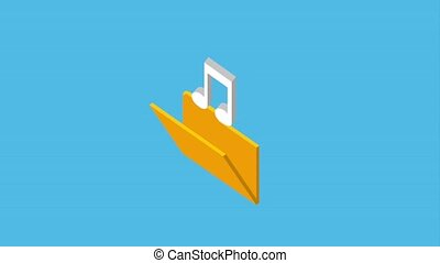 folder file music note archive animation hd