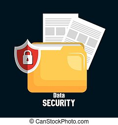 folder file technology data security design