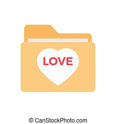 folder  flat color icon