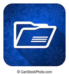 folder flat icon, christmas button