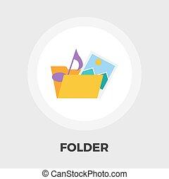 Folder flat icon