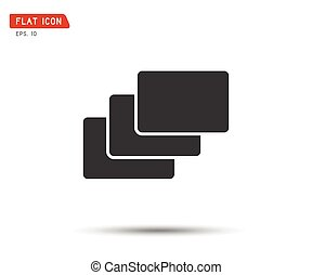 Folder flat icon, logo Vector illustration