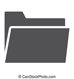 Folder glyph icon, web and mobile, file sign vector graphics, a solid pattern on a white background, eps 10.