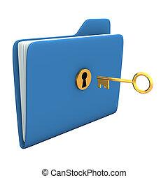 Folder Golden Key