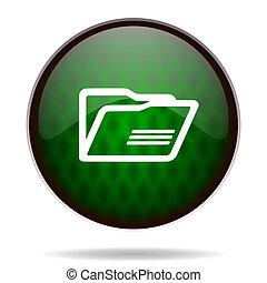 folder green internet icon