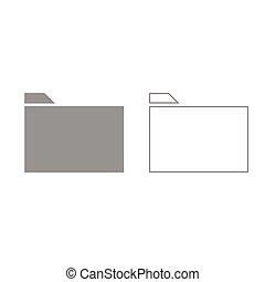 Folder grey set icon .