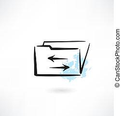 folder grunge icon