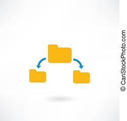 folder icon and arrow