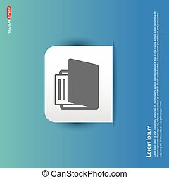 Folder icon - Blue Sticker button