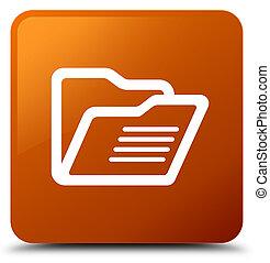 Folder icon brown square button