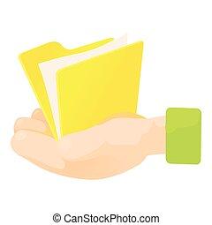 Folder icon, cartoon style