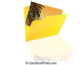 Folder icon  - Folder with photo