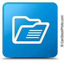 Folder icon cyan blue square button