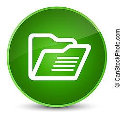 Folder icon elegant green round button