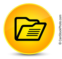 Folder icon elegant yellow round button