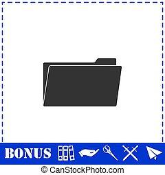 Folder icon flat