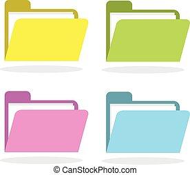 folder icon flat style