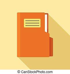 Folder icon, flat style
