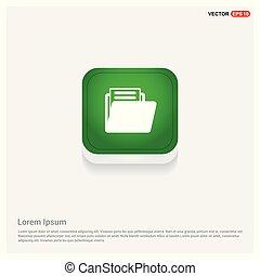 Folder icon Green Web Button