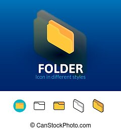 Folder icon in different style