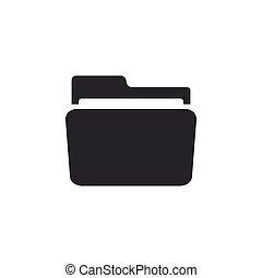 Folder icon isolated. Flat design. Vector Illustration