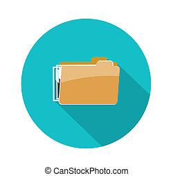 Folder icon, isolated on white background