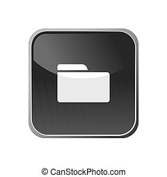 Folder icon on a square button