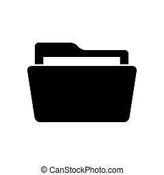Folder icon on white