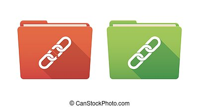 Folder icon set with chains