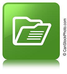 Folder icon soft green square button
